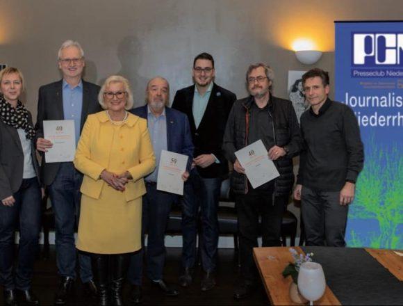 Presseclub Niederrhein ehrte langjährige und verdiente Mitglieder