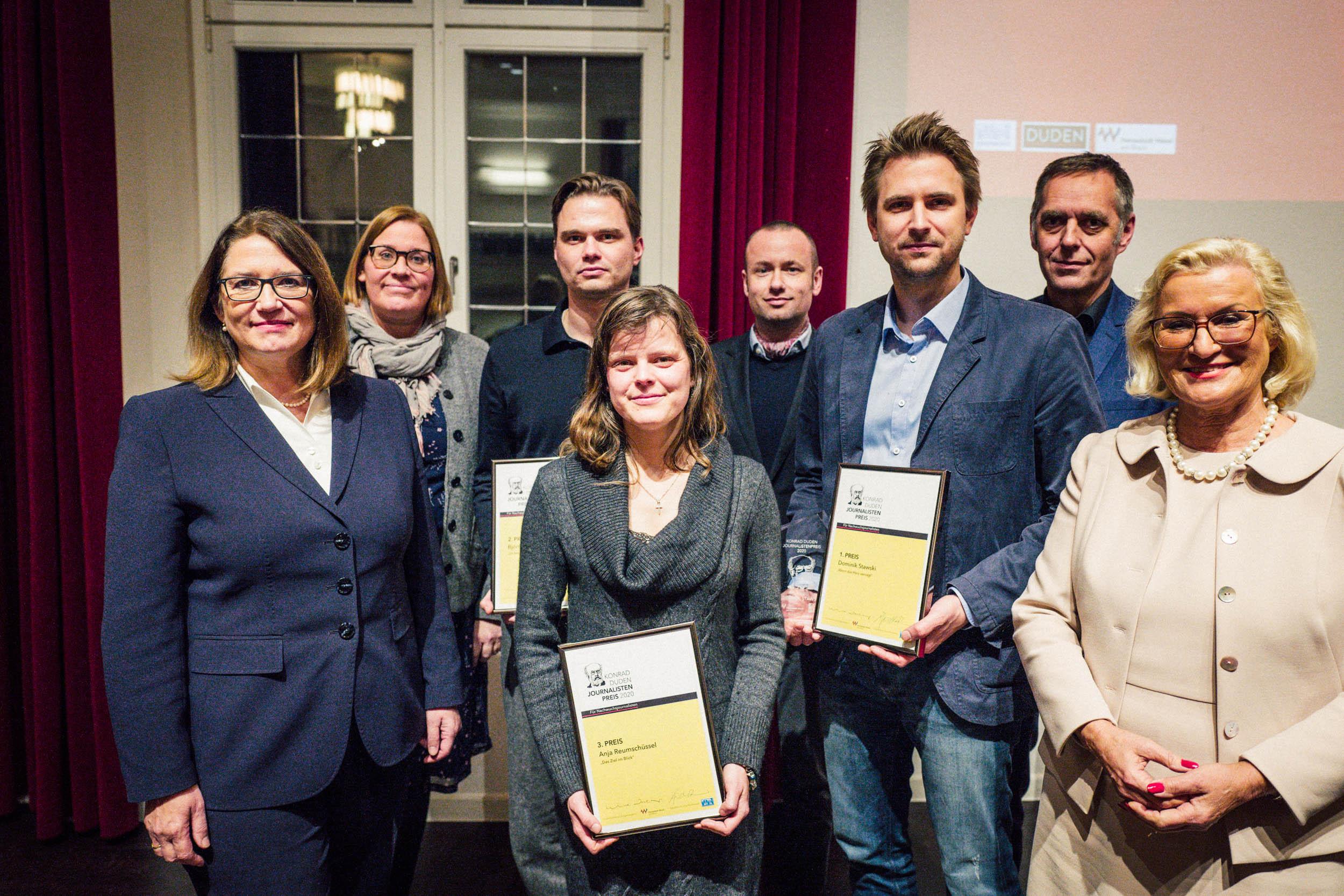 Sieger des Konrad-Duden-Journalistenpreises mit Egon-Erwin-Kisch-Preis ausgezeichnet